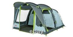 Coleman Tunnel Tent Meadowood 4 Person Black Out Bedrooms Grey Camping Garden