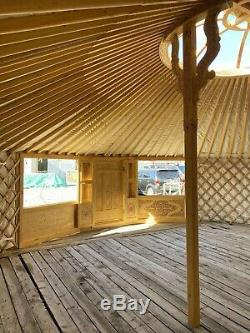 Contemporary Mongolian Yurt- double door & large windows-8.60m diameter