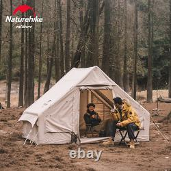 Cotton Inflatable Camping Tent 4 Person Outdoor Family Light Luxury Large Space