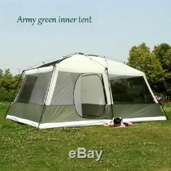 Double Layers Large Space Family Camping Tents Diagonal Bracing Types Style Tent