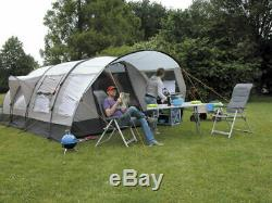 Eurotrail Bergamo Large 3 Rooms Family Tent Inflatable Air Tubes With Canopy