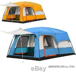 Festival Large Vacation Tunnel Temporary Shelter 2 Sitting Rooms Tent