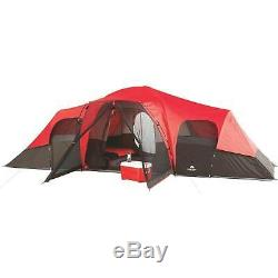Giant Outdoor Camp Tent Large 3-Rooms Family Cabin Huge 10-Person Big Waterproof