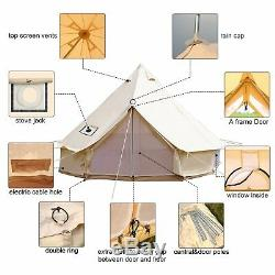 Glamping 6M Bell Tent Canvas Waterproof Party Wedding Large Family British Tents