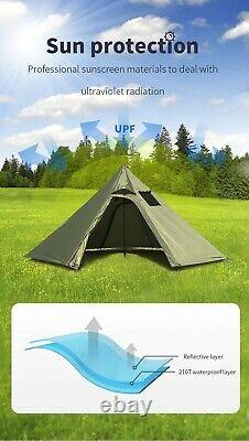 Glamping tent glamorous luxury luxe large outdoor camping with Chimney Hole
