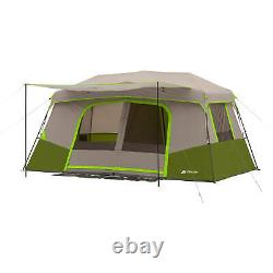 Green Ozark Trail 11 Person Tent 3 Room Instant Cabin Private Outdoor Camping