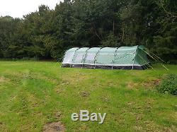 Hi-Gear Corado 8 Man Extra Large Tent 4 x double bedrooms, corridor, awning