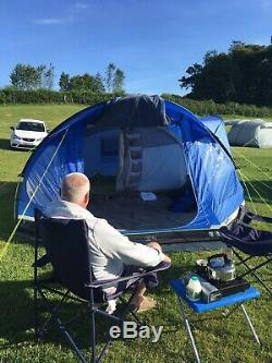 Hi gear 5 person tent 2separate bedrooms large living area front and side doors