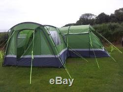 Higear Kalahari 8 Large Family Tent 8-man includes Awning, Carpet, Footprint