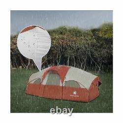 HikerGarden Portable Tent 8 Person Waterproof Outdoor Camping Shelter Red New