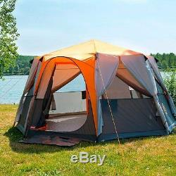Huge Camping 8 Man Person Tent Big Awning Outdoor Family Vacation Summer Large