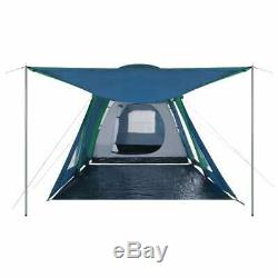 Inflatable Camping Tent Outdoor Festival Family Tent 4 Person Dome Tent withAwning