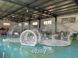 Inflatable Commercial Grade Two Room PVC Clear Eco Dome Camping Bubble Tent NEW
