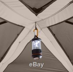 Instant Cabin Tent 11 Person Orange All Season Room Devider Camping Gear Outdoor