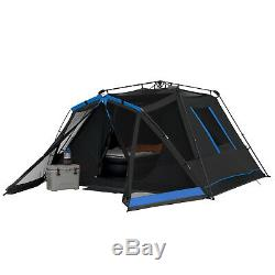 Instant Dark 6-Person Rest Tent With LED Lighted Poles Family Camping Hiking Cabin