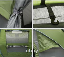 Instant Pop Up Tent 3-4 Person Family Tent Breathable Outdoor Camping Hiking