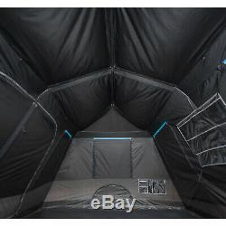 Instant Tent Large 10-Person Instant Cabin Dark Rest Blackout Windows Camping