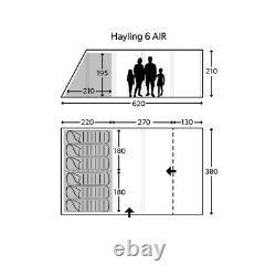 Kampa Hayling 6 Classic Air Poly Cotton Tent/Carpet/Mesh Vestibule