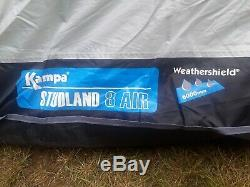 Kampa Studland 8 berth air tent- large family inflatable tent in great condition