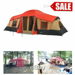 Ozark Trail 10 Person 3 Room Cabin Tent with side entrances