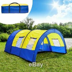 LARGE 6 MAN TENT Tunnel Waterproof Family, Camping, Travel, Festival UK NEW