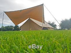 Large 4x2 Metre Canvas Bell Tent Canopy Awning Cover For Bell Tents