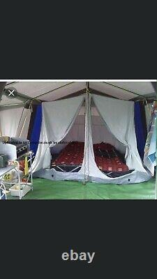 Large 6 Berth Canvas Frame Tent, Trailer And Equipment