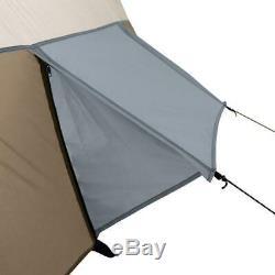 Large 8-Person Outdoor Camping Tent with Screen Room, 3-Season 16 x 11 ft. Brown