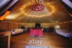 Large 8m 1 Year Old Mongolian Yurt Oxford Wooden Floor Underfloor Heating Tent