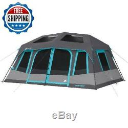Large Camping 10 Person Tent Instant Cabin Family Hiking Waterproof Outdoor