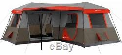 Large Camping Tent 12 Person 3 Room Instant Cabin Outdoor Trail Hunting Fishing