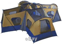 Large Camping Tent Base Camp 14 Person Family Room Entrance Window Hiking Huge
