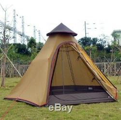 Large Camping Yurt Double Layer Mosquito Net Garden Outdoor Fishing Family Tents