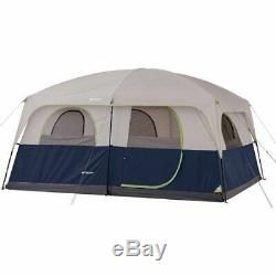 Large Family Camping Tent Window Height Air Bed All Season Big Storage 10 Person