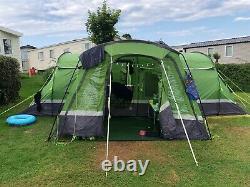 Large Hi-Gear Green Kalahari 10 man tent with Porch & Footprint In Ex Condition