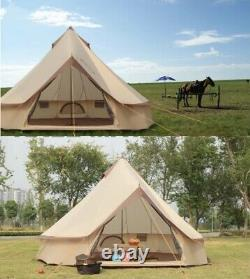 Large Mongolia Yurt Tent Bell Tent Outdoor Waterproof Glamping Camping 4M
