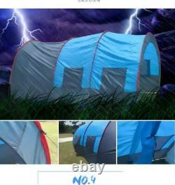 Large Outdoor Double Layer Tent Tunnel Camping Family Travel Tent 8-10 Person