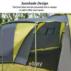 Large Premium 9 Person 3+1 Room Camping Tent Outdoor Family withAwning Waterproof