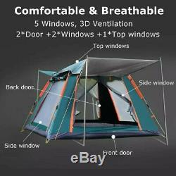 Large Tent, 3-7 Person Automatic Camping Tent Outdoor Ultralarge Large Family