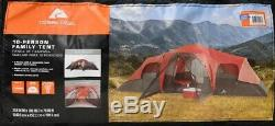 Large Tent Camping Outdoor Ozark Trail 3 Room 10 Person Waterproof Easy Set Up