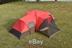 Large Tent Camping Outdoor Ozark Trail 3 Room 10 Person Waterproof FREE SHIPPING