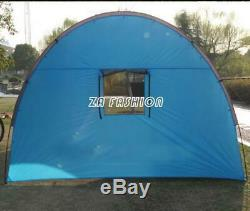 Large Tent Outdoor Double Layer Tunnel Camping 8-10 People Family Party Tent