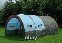 Large Tent Outdoor Double Layer Tunnel Camping 8 People Family Party Tent New
