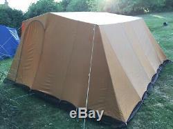 Large Vintage Retro Canvas Frame Tent. 1970s. Orange & Brown. Made By Lichfield