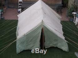 Large Vintage Scout Patrol Canvas Ridge Tent Glamping/Re-enactment/Film/Tv Prop