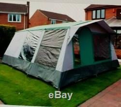 Large cabanon frame tent top quality canvas, inc ground sheets, pegs complete