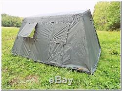 Military Army Outdoor Large BaseCamp Tent Shelter 6 Person Olive Factory New