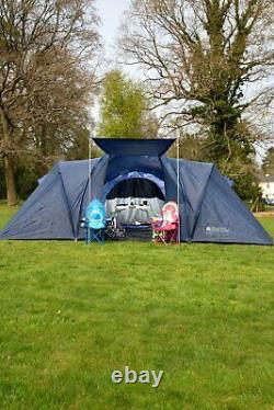 Mountain Warehouse Holiday 6 Man Dome Tent Large Shelter Camping Sleeping