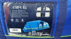 NEW Berghaus Inflatable Air 6 Porch Tent Blue