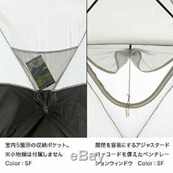 NEW NORTH FACE NV21800 Geodome 4 Tent with Footprint Saffron Yellow from JAPAN